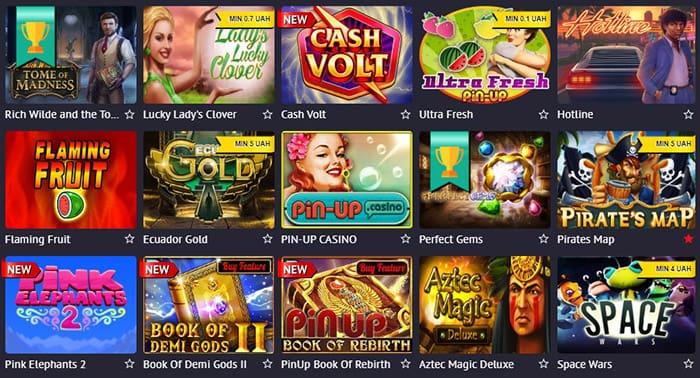 Игровые автоматы Пин Ап казино: разнообразие игр и современные производители